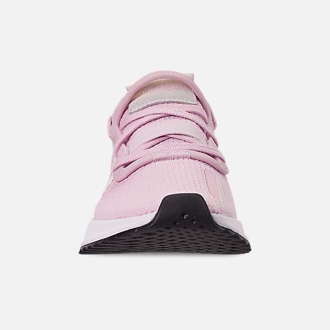 Front view of Girls' Big Kids' adidas U_Path Run Casual Shoes in Aero Pink/White/Black