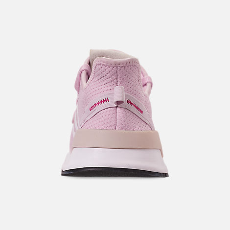 Back view of Girls' Big Kids' adidas U_Path Run Casual Shoes in Aero Pink/White/Black