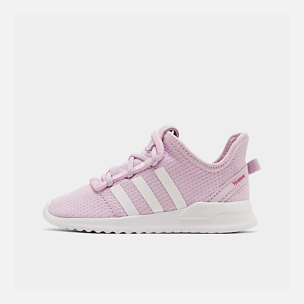 Right view of Girls' Toddler adidas U_Path Run Casual Shoes in Aero Pink/White/Core Black