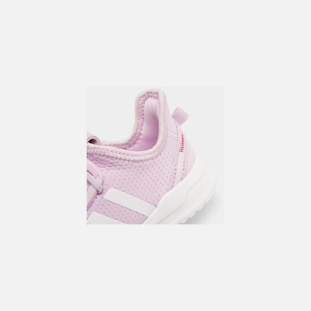 Front view of Girls' Toddler adidas U_Path Run Casual Shoes in Aero Pink/White/Core Black