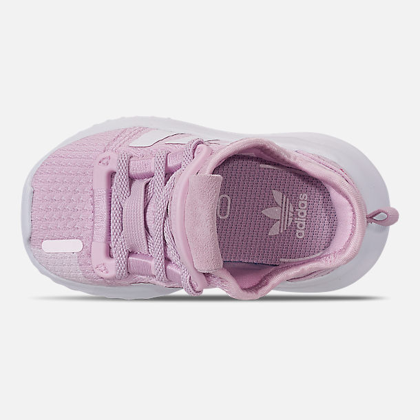 Top view of Girls' Toddler adidas U_Path Run Casual Shoes in Aero Pink/White/Core Black