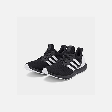 sports shoes c8e52 b76b5 Three Quarter view of Mens adidas UltraBOOST DNA Running Shoes in Core  BlackFootwear White