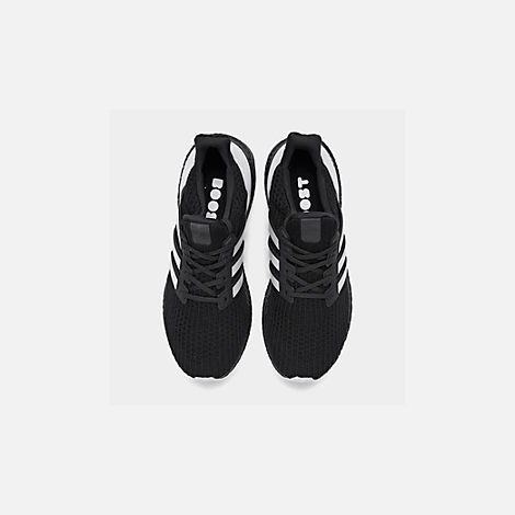 7566742e0c01 Back view of Men s adidas UltraBOOST DNA Running Shoes in Core Black Footwear  White