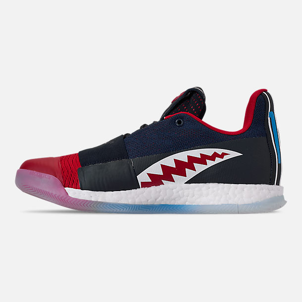 Left view of Men s adidas Harden Vol.3 Basketball Shoes in Legend Ink Active b0bff51631