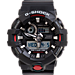 Front view of Casio G-Shock GA100 Series Watch in Black/Red
