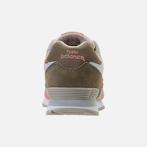 Back view of Boys' Grade School New Balance 574 Casual Shoes in Bone/Dusted Peach