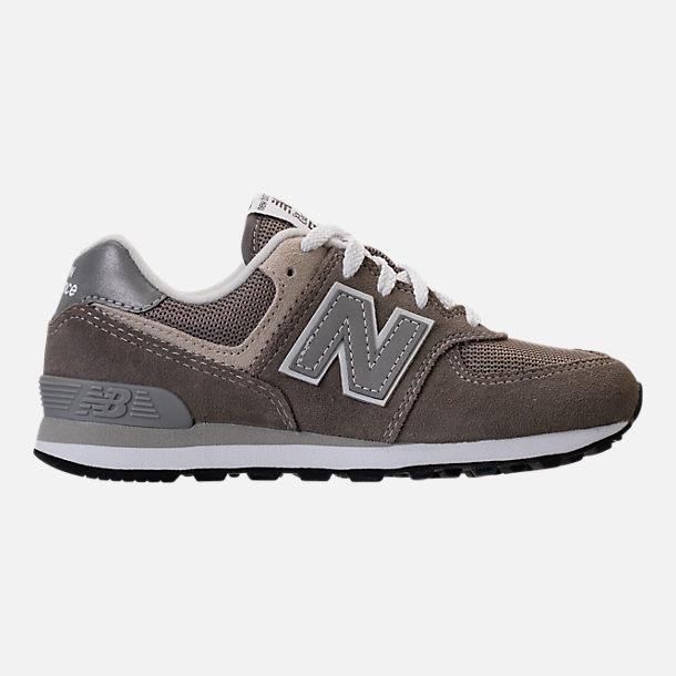 Right view of Boys' Grade School New Balance 574 Core Casual Shoes in Grey/Grey
