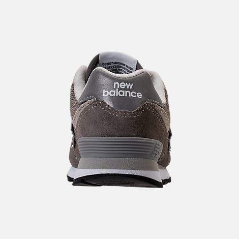 Back view of Boys' Grade School New Balance 574 Core Casual Shoes in Grey/Grey