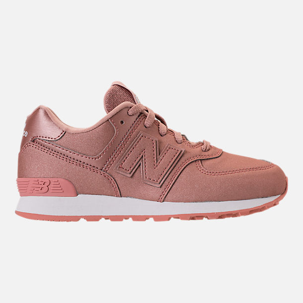 Right view of Girls' Big Kids' New Balance 574 Casual Shoes