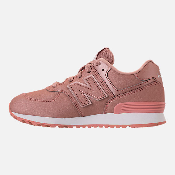 Left view of Girls' Big Kids' New Balance 574 Casual Shoes