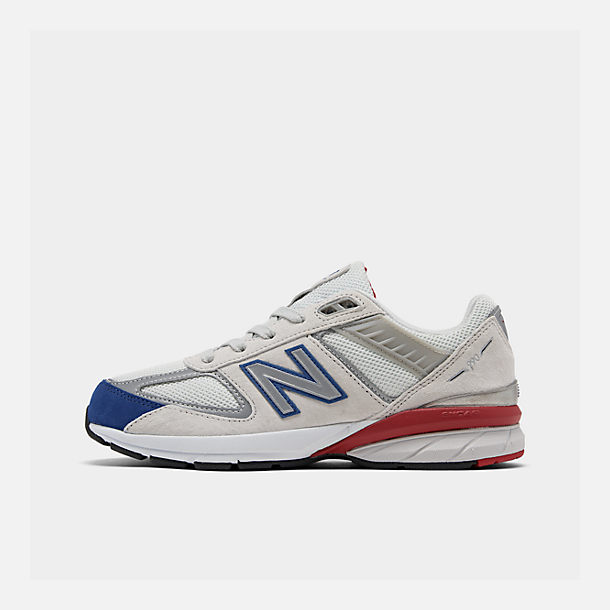 Right view of Boys' Big Kids' New Balance 990 V5 Casual Shoes in Nimbus Cloud/Team Royal