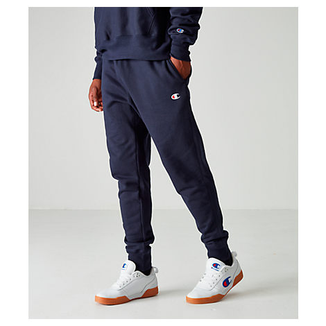 Champion Reverse Weave Jogger Pants In Navy