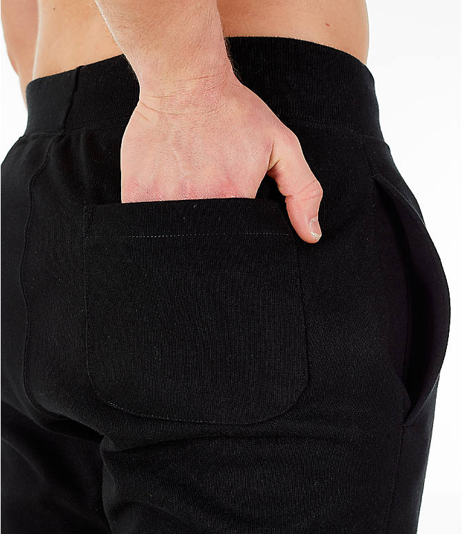 Detail 1 view of Men's Champion Reverse Weave Big C Chenille Jogger Pants in Black