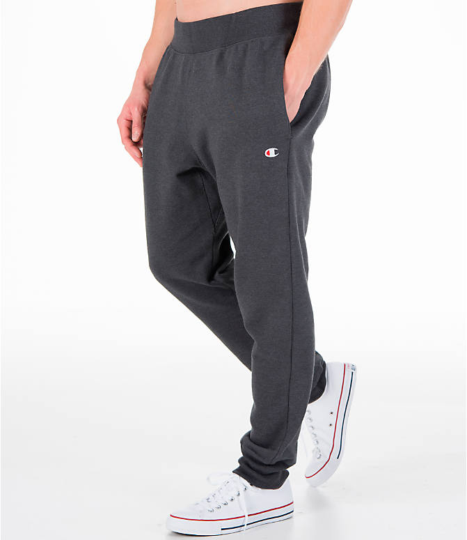 Detail 1 view of Men's Champion Reverse Weave Jogger Pants in Granite Heather