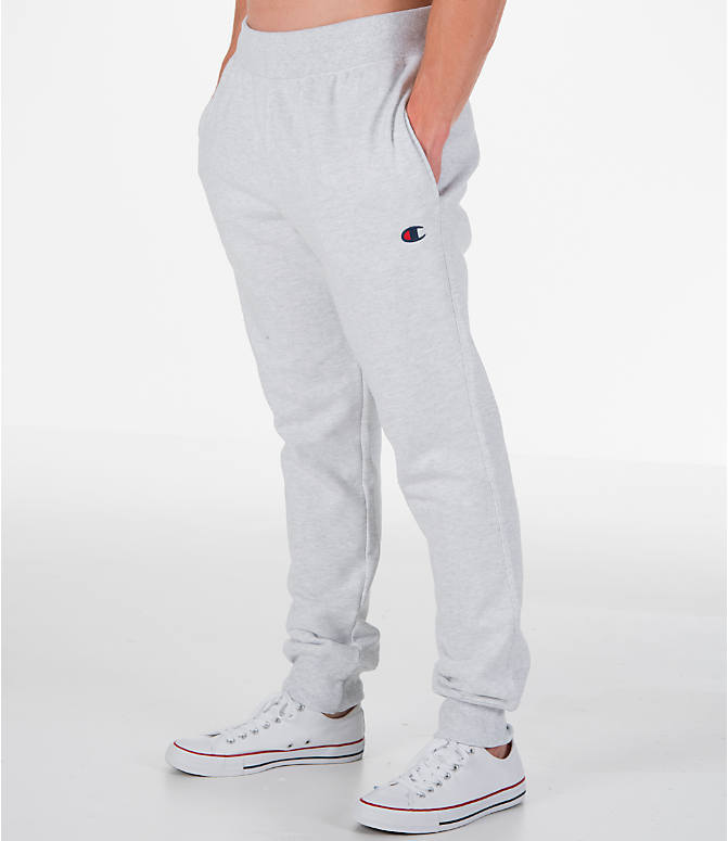 Detail 1 view of Men's Champion Reverse Weave Jogger Pants in Silver Grey
