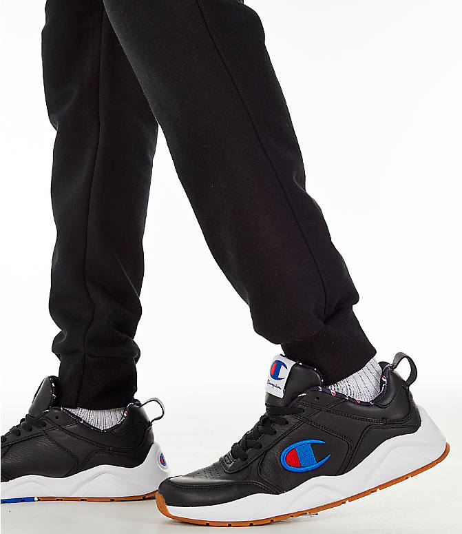 Detail 2 view of Men's Champion Powerblend Jogger Pants in Black