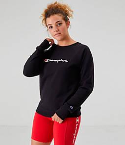 Women's Champion Powerblend Script Logo Crew Sweatshirt