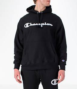 Men's Champion Reverse Weave Script Pullover Hoodie