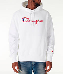 Men's Champion Reverse Weave Satin Stitch Hoodie