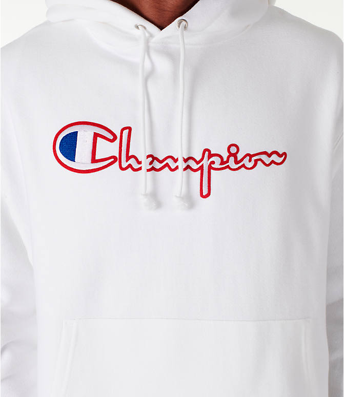 Detail 1 view of Men's Champion Reverse Weave Satin Stitch Hoodie