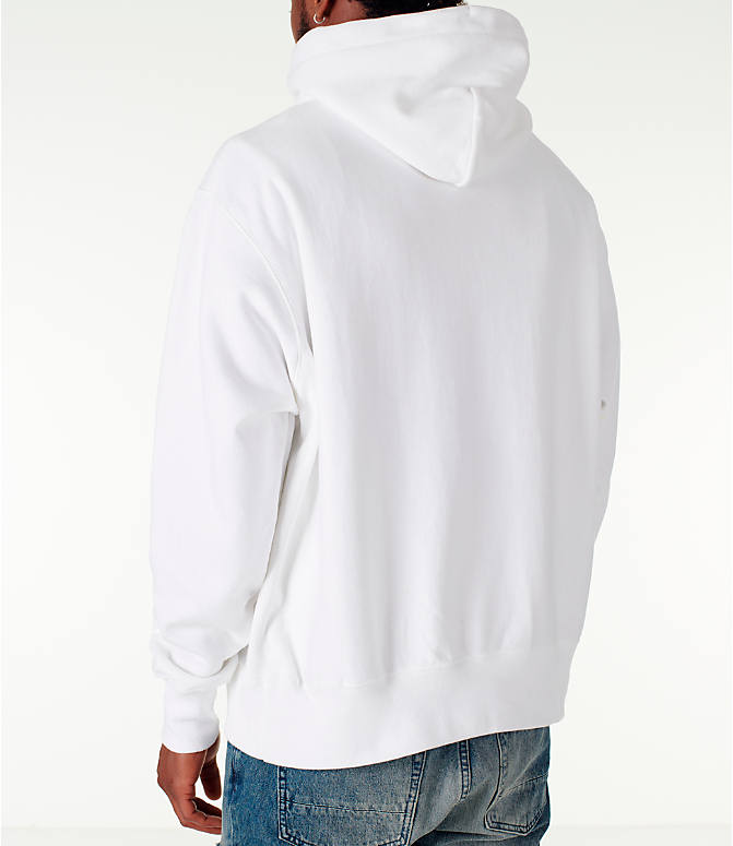 Back Left view of Men's Champion Reverse Weave Satin Stitch Hoodie