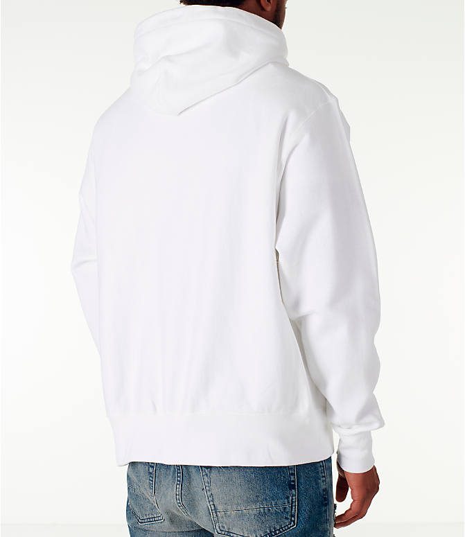 Back Right view of Men's Champion Reverse Weave Satin Stitch Hoodie