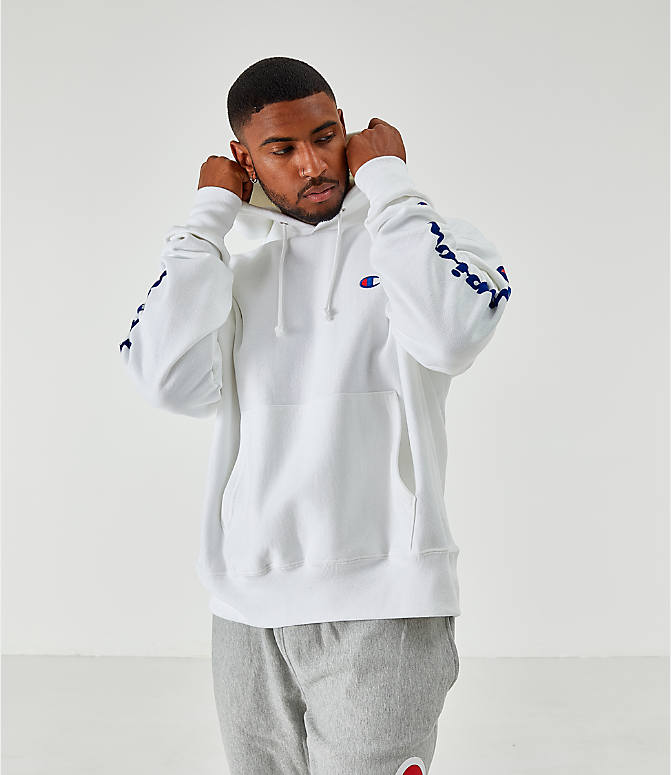 Men's Champion Reverse Weave Arm Script Hoodie
