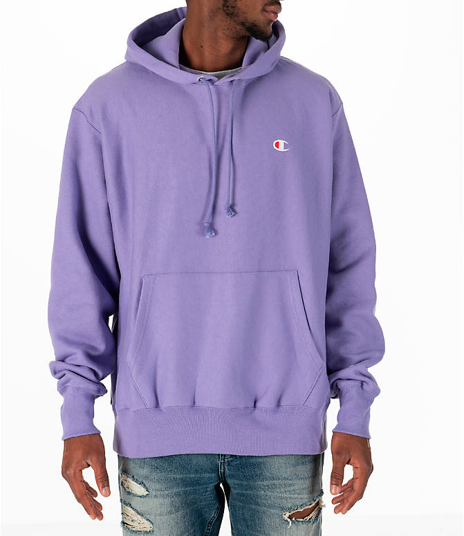 Front view of Men's Champion Reverse Weave Pullover Hoodie