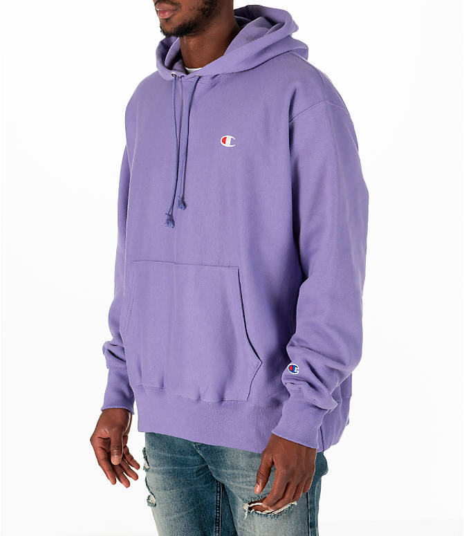 Front Three Quarter view of Men's Champion Reverse Weave Pullover Hoodie