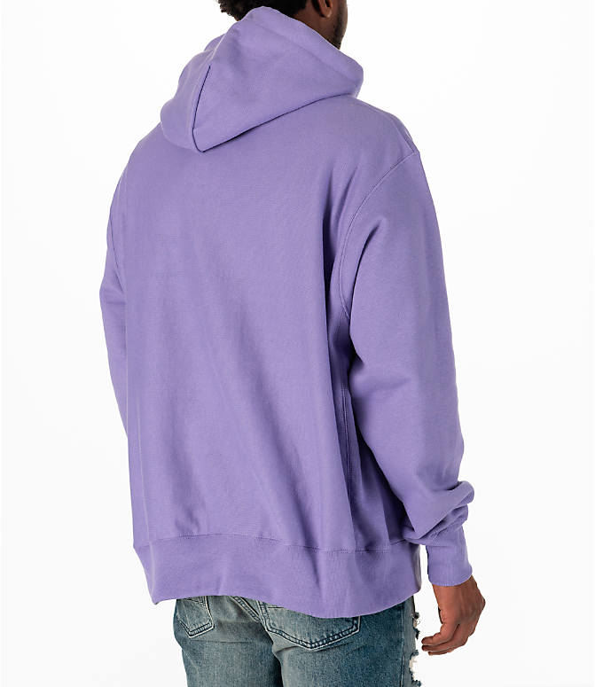 Back Right view of Men's Champion Reverse Weave Pullover Hoodie