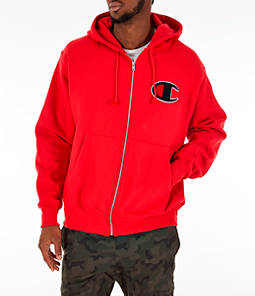 Men's Champion Reverse Weave Chenille Logo Full-Zip Hoodie
