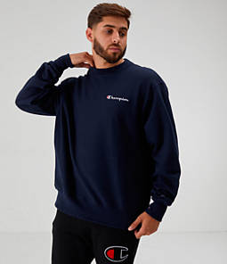 Men's Champion Reverse Weave Small Script Crewneck Sweatshirt