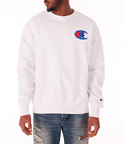 Men's Champion Reverse Weave Big C Patch Crewneck Sweatshirt