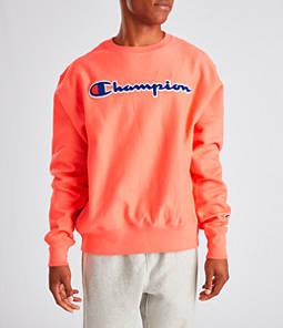 Men's Champion Reverse Weave Chenille Logo Crewneck Sweatshirt