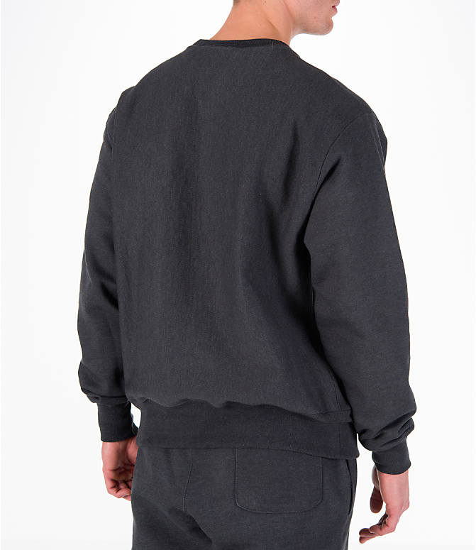 Back Right view of Men's Champion Reverse Weave Crew Sweatshirt