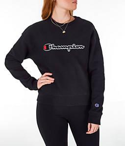 Women's Champion Reverse Weave Chenille Crew Sweatshirt