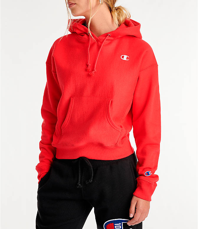 Women's Champion Reverse Weave Chenille Small Logo Hoodie by Champion
