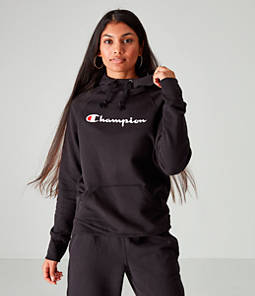 Women's Champion PowerBlend Fleece Script Pullover Hoodie