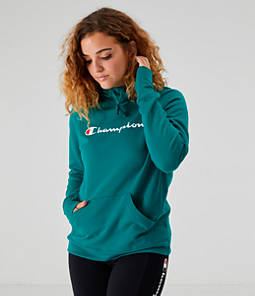 Women's Champion PowerBlend Fleece Script Pullover Hoodie