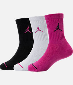 Girls' Jordan Crew Socks - 3 Pack