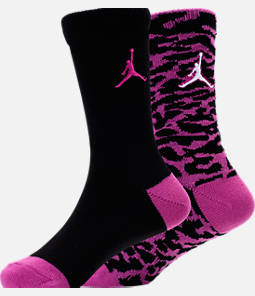 Girls' Air Jordan Elephant Print 2-Pack Crew Socks