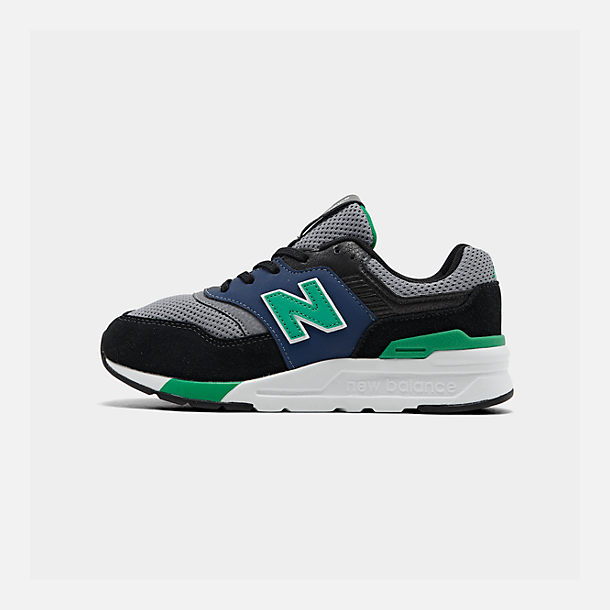 Right view of Boys' Big Kids' New Balance 997 Casual Shoes in Black/Verdite