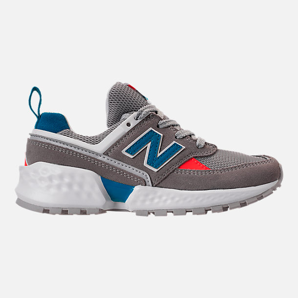 Right view of Boys' Big Kids' New Balance 574 Sport V2 Casual Shoes in Marblehead/Deep Ozone Blue