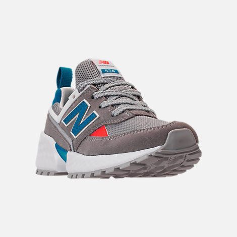 Three Quarter view of Boys' Big Kids' New Balance 574 Sport V2 Casual Shoes in Marblehead/Deep Ozone Blue