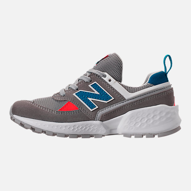 Left view of Boys' Big Kids' New Balance 574 Sport V2 Casual Shoes in Marblehead/Deep Ozone Blue