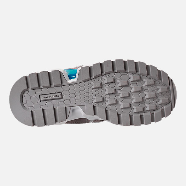 Bottom view of Boys' Big Kids' New Balance 574 Sport V2 Casual Shoes in Marblehead/Deep Ozone Blue