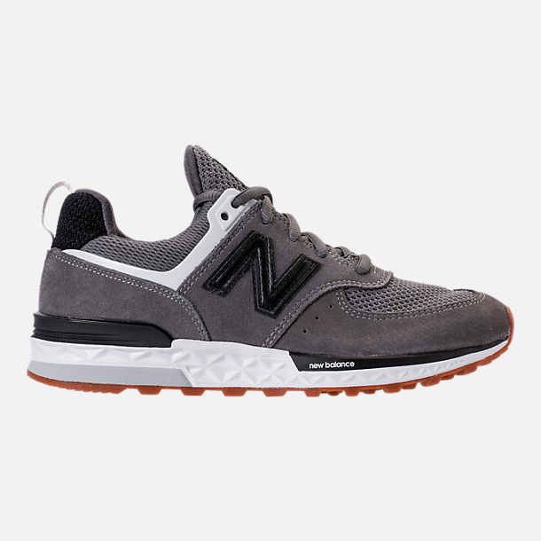 Right view of Boys' Big Kids' New Balance 574 Sport Casual Shoes in Castlerock/Black