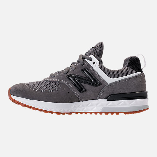 Left view of Boys' Big Kids' New Balance 574 Sport Casual Shoes in Castlerock/Black