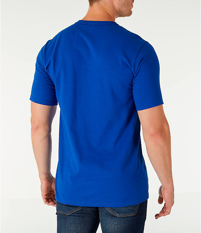 Back Right view of Men's Champion Life C Logo T-Shirt in Surf The Web