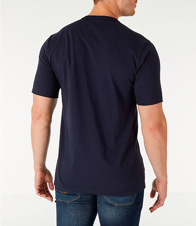 Back Right view of Men's Champion Life Script T-Shirt in Navy